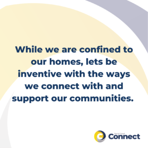 while we are confined to our homes, lets be inventive with the ways we connect with and support our communities - virtual volunteering