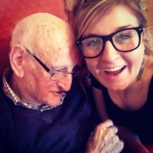 Lennox with her Grandad Jack.