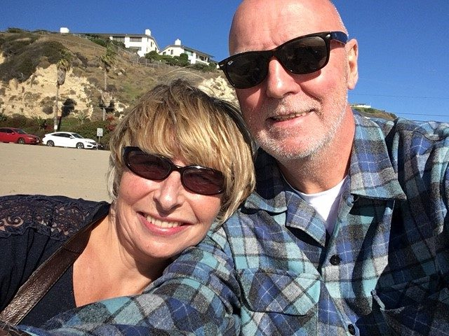Debbie and her husband in California