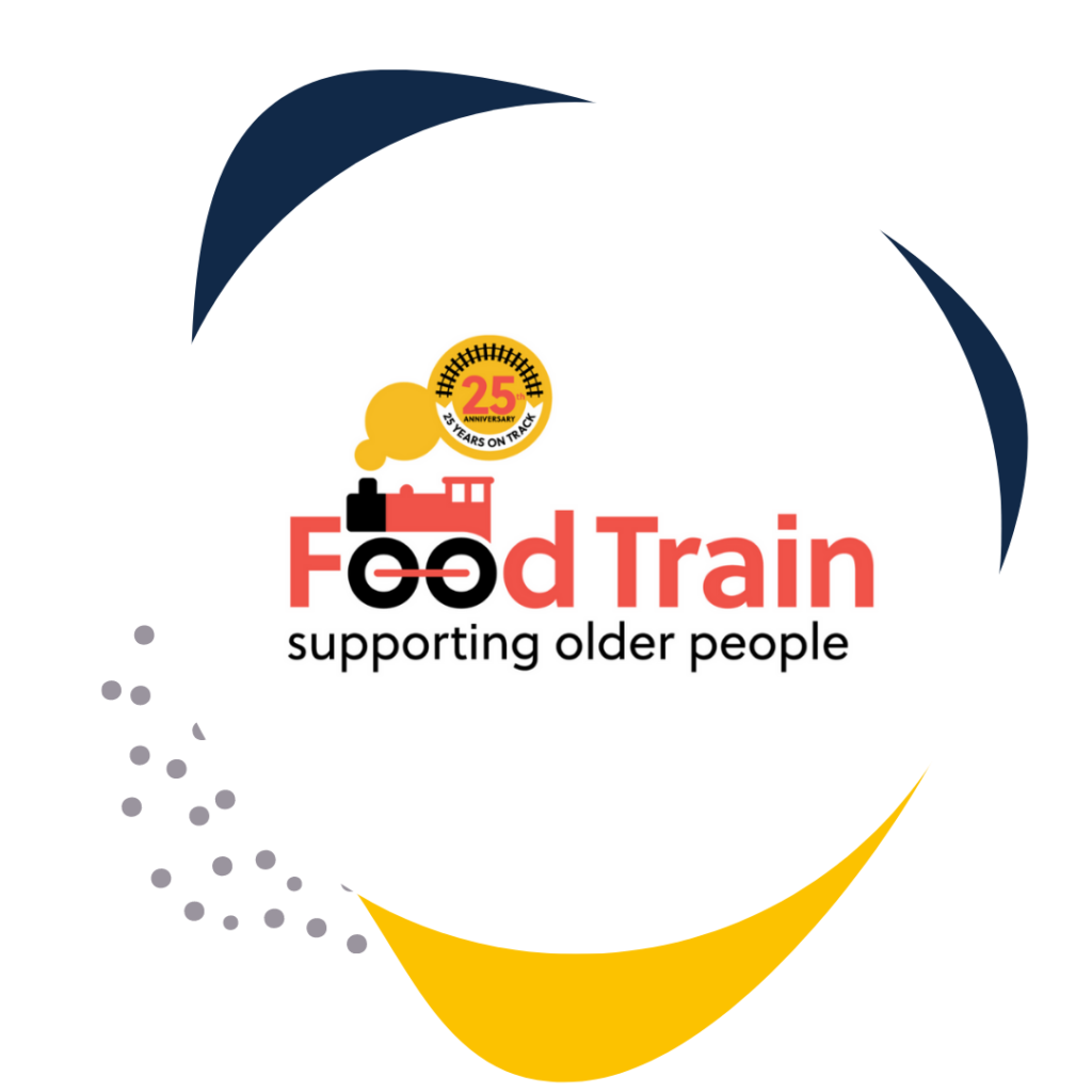 Food Train logo in Social Good connect coloured frame